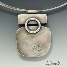 Silver Pendant Silver Choker Silver Necklace Peanut by LjBjewelry