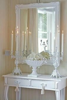 White decor.