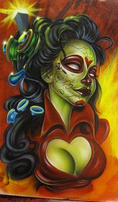 Joe Capobianco :PeepShow, Pin-ups. : Female Fantasy Art, Tattoo Galleries, and Tattoo Flash Designs