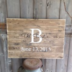 Guest Book Sign, distressed, Established Sign, The ___ last name Sign, Rustic Sign, Rustic Decor, Rustic Wedding, full date, measures 30x20 by SimplyMadeDesignsbyb on Etsy