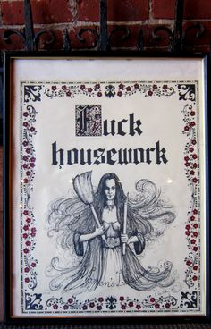 Vintage Fuck Housework Women's Liberation Poster dated 1971