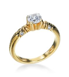 Simple. I like. Alex Sepkus - Bubble Collection 18K Yellow Gold 0.06ctw Diamond Setting