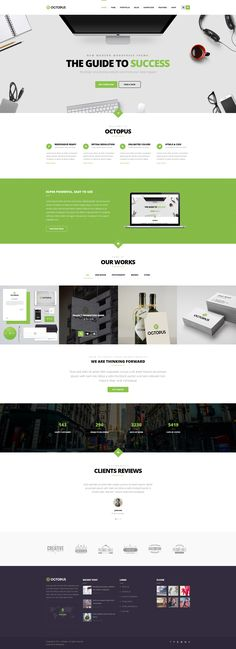 Octopus is a Modern Multipurpose Business WordPress Theme suitable for any type of website #Creative #webdesign