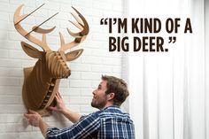 Cardboard Safari Large Deer - so manly!