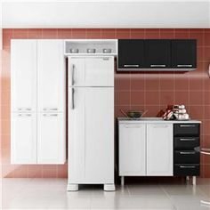 Cozinha Compacta Itatiaia Anita Smart com 3 Peças - Cozinha Compacta no Pontofrio.com