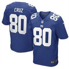 Nike Elite Men's New York Giants #80 Victor Cruz Team Color Blue NFL Jersey
