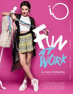"""iO """"Fun at Work"""" Spring/Summer 2015 on Behance Interesting editorial images for inspiration by PR with Perkes Graphic Design Trends, Graphic Design Posters, Ad Design, Graphic Design Inspiration, Layout Design, Banner Instagram, Collage Poster, Social Media Design, Fun At Work"""