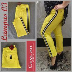 Spodnie z lampasem Cevlar BL03 kolor cytryna limonka rozmiar 38 – 40 – 42 - Big Sister Sweatpants, Fit, Fashion, Moda, La Mode, Sweat Pants, Fasion, Jumpsuits, Fashion Models