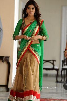 south indian actress Samantha in half saree