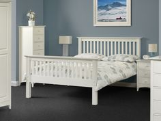 Beautiful Aspen White Bedroom Furniture Manufactured Using Selected Solid Hard Wood.  Buy This Sturdy Bedroom Furniture At Great Prices Online Now!