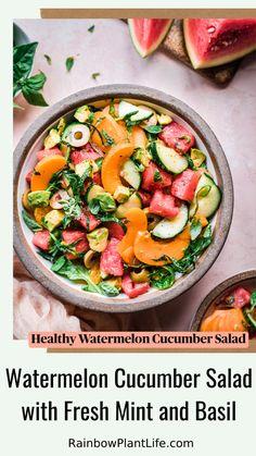 Summer Salad Recipes, Good Healthy Recipes, Healthy Salad Recipes, Healthy Foods To Eat, Healthy Snacks, Healthy Eating, Vegan Recipes Summer, Summer Vegetable Recipes, Best Summer Salads