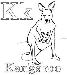 24 Kangaroo Coloring Page Animal Printables