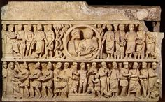 Dogmatic or Trinity Sarcophagus, ca 320-350, Vatican Museum