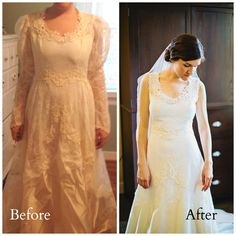 I had my mother&-39-s wedding dress redesigned for my wedding @Candace ...