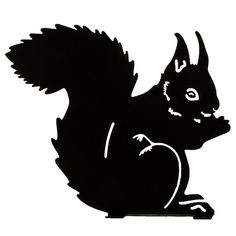 The squirrel as a silhouette makes a fine decoration in the garden or on the bookshelf. Find your favorite animal as a silhouette at Wildlife Garden. Vogel Silhouette, Squirrel Silhouette, Animal Silhouette, Black Silhouette, Owl Life, Cute Squirrel, Squirrels, Plasma Cutter Art, Silhouette Tattoos