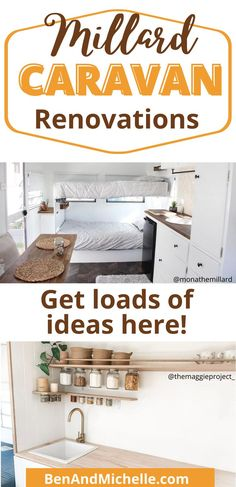See these amazing caravan renovations! We've only included Australian brand Millard in this roundup (and their off-shoot, the little York caravans) as these vintage caravans make wonderful renovation projects. Millard caravan renovations | Renovated caravans | Vintage caravans | Caravans Australia | old caravans Best Caravan, Diy Caravan, Retro Caravan, Vintage Caravan Interiors, Vintage Caravans, Caravan Makeover, Caravan Renovation, Interior Ideas, Interior Decorating