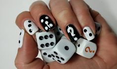 Dice Nails | Monochrome - YouTube