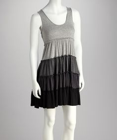 Simple Grey Scale Dress