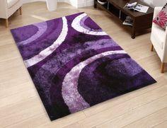 Rugs for Teen Girls Rooms Kids Rooms Shag Carpet Purple Office Area 5' x 7' #RugAddiction #ShagFlokati