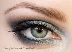 I like this take on smoky eyes--lots of color instead of lots of just black.