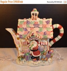 Christmasinjuly Fitz and Floyd Candy Lane by ShellysSelectSalvage