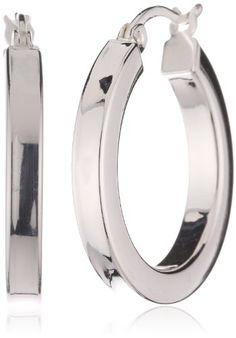 VINANI brand Germany 925 Sterling Silver Hoop Earrings Classic shiny CFC - Big Earrings, Silver Hoop Earrings, Silver Rings Handmade, Affordable Jewelry, Sterling Silver Hoops, Bling, Jewerly, Gems, Silver Style