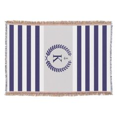 #Navy #Blue #Grey #Nautical #Stripes #Personalized #Monogram #Woven #Throw #Blanket http://www.zazzle.com/navy_grey_nautical_stripes_personalized_monogram_zazzlethrowblanket-256047606121689363?rf=238213022379565456