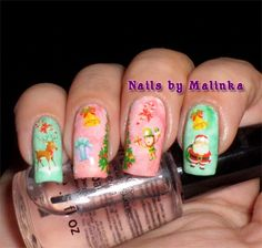 Nails by Malinka: Christmas water decals Born Pretty
