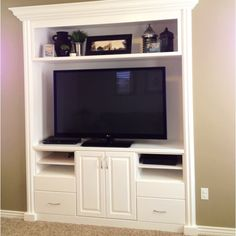 Built-in Entertainment Center Idea: nice for small spaces. Description from pinterest.com. I searched for this on bing.com/images