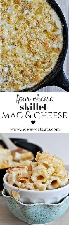 VIDEO! Four Cheese Mac and Cheese! I howsweeteats.com @howsweeteats