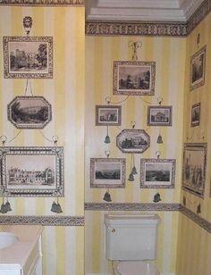 I love the idea of a dollhouse print room.    Fab Print Room from www.printrooms.com  - love the stripes!
