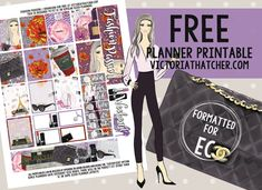 Free Printable Fashion Passion Planner Stickers from Victoria Thatcher