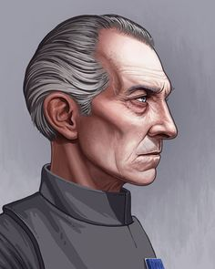 """Obviously you can't do a series of Star Wars portraits without this dude. """"Grand Moff Tarkin"""" - available at @mondotees for 72 hours. #starwars"""
