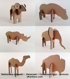 Fun cardboard animals you can make out of used moving boxes! - Fun cardboard animals you can make out of used moving boxes! You are in the right place - Cardboard Animals, Cardboard Box Crafts, Cardboard Sculpture, Cardboard Toys, Paper Toys, Paper Crafts, Cardboard Cartons, Paper Animals, Diy Crafts
