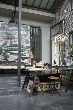 ♂ Masculine and rustic interior design