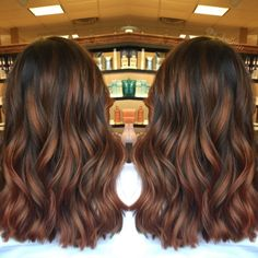 Long Wavy Ash-Brown Balayage - 20 Light Brown Hair Color Ideas for Your New Look - The Trending Hairstyle Auburn Balayage, Balayage Straight, Brown Hair Balayage, Brown Blonde Hair, Brown Hair With Highlights, Brunette Hair, Ombre Hair, Fall Balayage, Auburn Hair Highlights