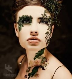 Woodland nymph costume make-up Makeup Art, Eye Makeup, Makeup Ideas, Bird Makeup, Exotic Makeup, Flower Makeup, Witch Makeup, Mermaid Makeup, Makeup Style