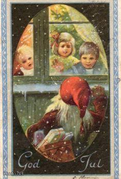 A Jenny Nyström postcard... God Jul.
