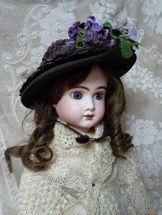 *FRENCH BEBE JUMEAU STEINER DOLL ~ Victorian, Original Hat Ideal  Exceptional Antique, c.1880's.