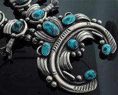 Navajo Squash Blossom Necklace  Sterling Silver by SITFineJewelry, $1999.00