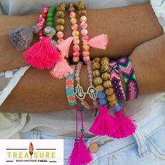 Hamsa Hand bracelet - Pink Beaded bracelet - bohemian jewelry - beach jewelry - 1 Piece by AllGirlsn Hand Bracelet, Tassel Bracelet, Tassel Jewelry, Beaded Bracelets, Jewellery, Hamsa Jewelry, Necklaces, Summer Jewelry, Beach Jewelry