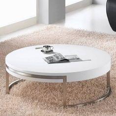 "modern round swivel coffee table 32""w x 32""d x 14""h, $349"