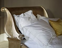 Head End Of The Nautilus Sleigh Bed From And So To Bed Luxury