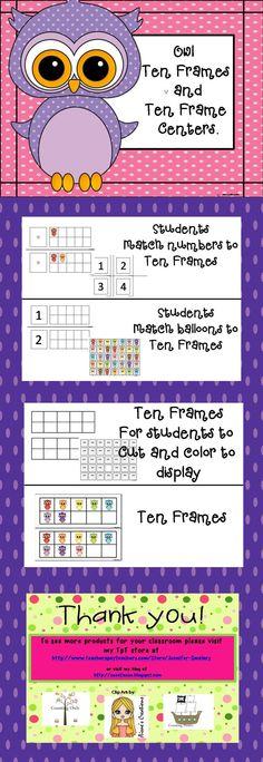 Ten Frames Centers