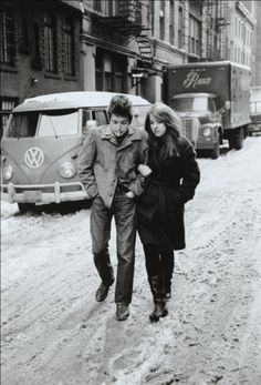 Don Hunstein. Bob Dylan & Suzie Rotolo. West Village, New York City. 1963.