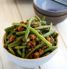 Pork Recipes : Spicy Chinese Green Beans with Ground Pork Recipe