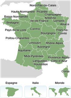 Carte de Location en France