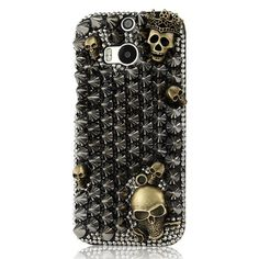 Handmade Floral Bow Crystal Bling Phone Case for HTC Htc Phone Cases, Mobile Cases, Protective Cases, Shells, Sparkle, Bling, Bows, Crystals, Luxury