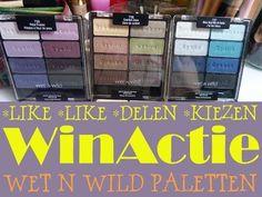 Gratis! Win een Wet n Wild Palette!  Winactie Wet n Wild palette's, comfort zone, petal pusher, blue had me at hello.  LIKE LIKE DEEL & KIES!