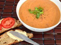 Vegan Tomato Lentil Soup with Cumin and Fresh Dill